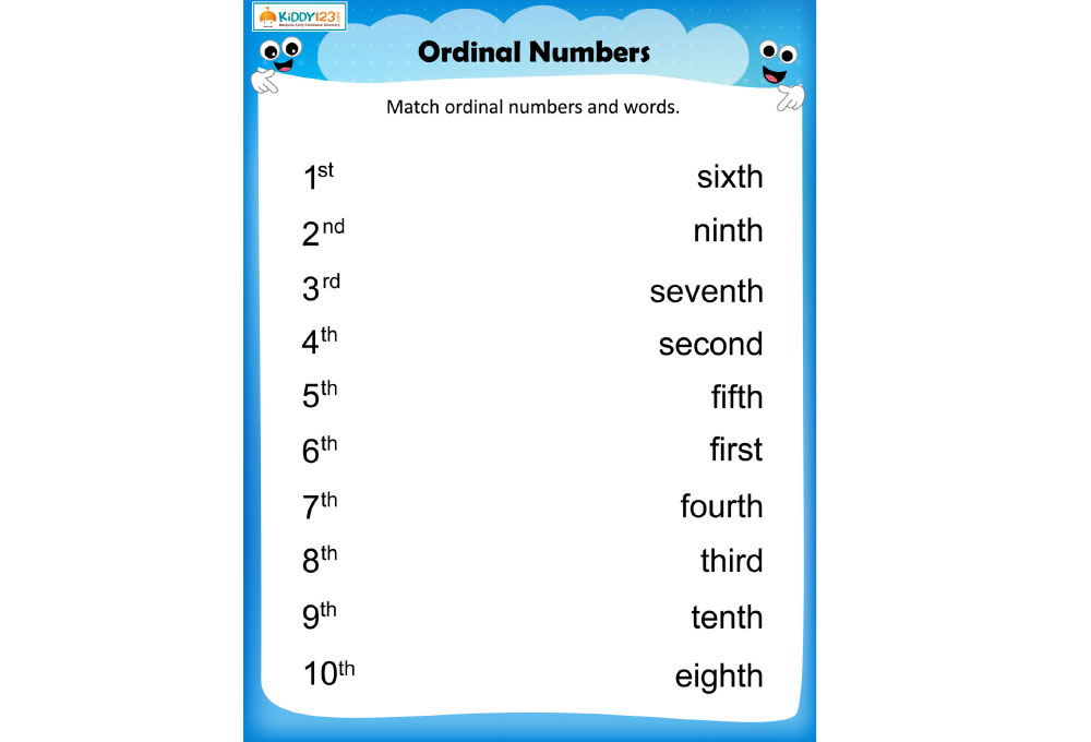 LANGUAGE _ Ordinal numbers