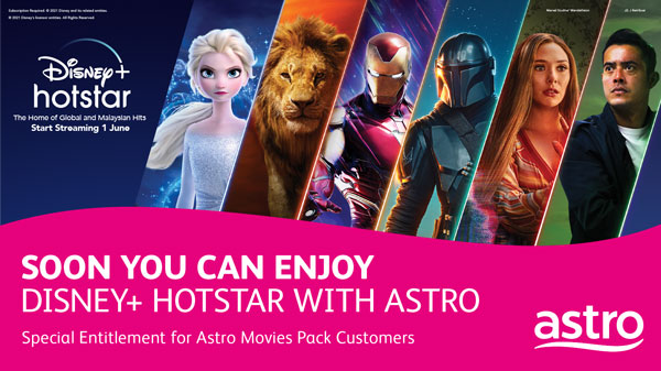 Akan Datang! Disney+ Hotstar to launch in Malaysia on 1 June