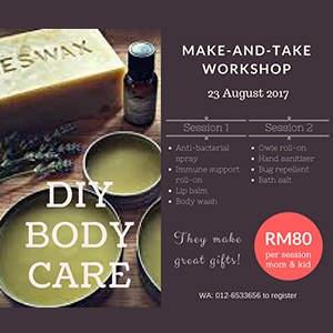 DIY Body Care Workshop at Giggle@Space
