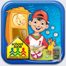 School Zone Time, Money & Fractions On-Track
