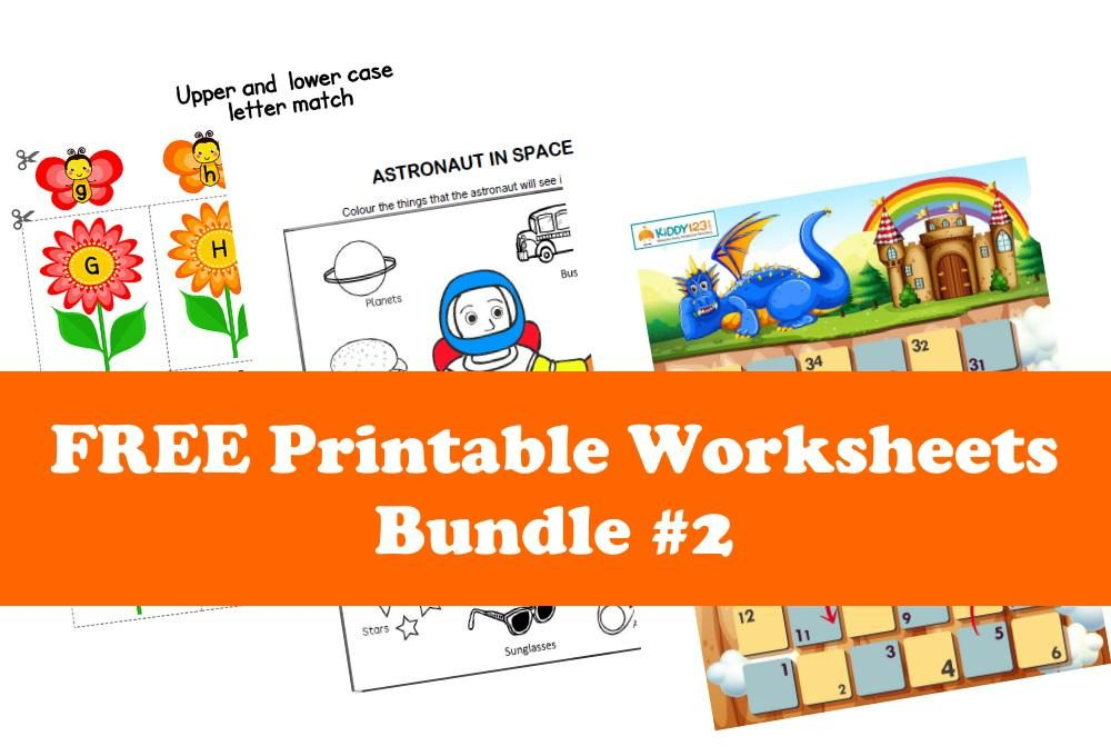 FREE Printable Worksheets for Kids | Bundle #2