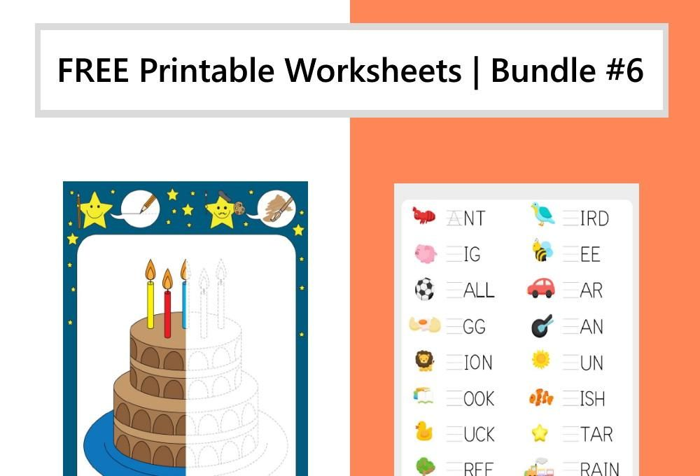 FREE Printable Worksheets for Kids | Bundle #6