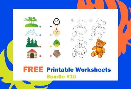 FREE Printable Worksheets for Kids | Bundle #10