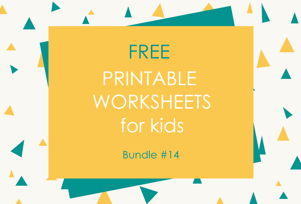 FREE Printable Worksheets for Kids | Bundle #14