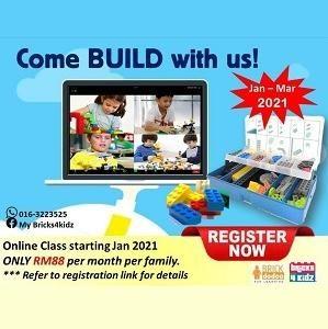 2021 Online Lego Bricks Class @ My Bricks4Kidz, Damansara Perdana (Petaling Jaya)