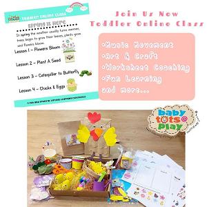 Toddler Online Class - Spring Is Here @ Babytots@Play, Bandar Botanic