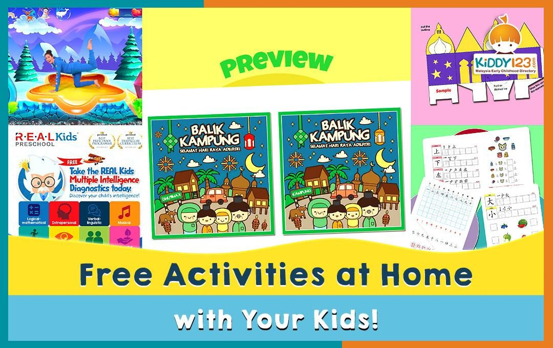 Free Activities at Home with Your Kids!