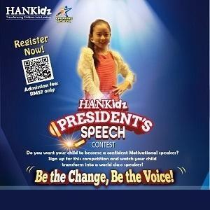 President's Speech Contest @ HANKidz Academy, Kota Damansara