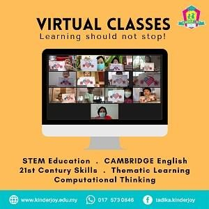 Virtual Classes (Age 3 to 6) - Interactive Real-Time Learning @ Tadika KinderJoy, Ipoh